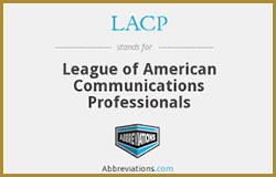 league of american communications professionals logo